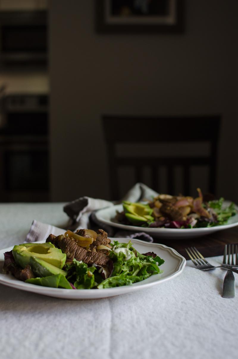 Peruvian Steak Salad | Sprig and Flours