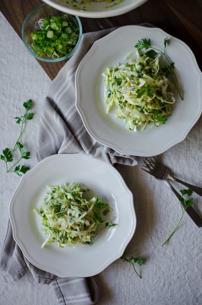 Green Coleslaw | Sprig and Flours-6