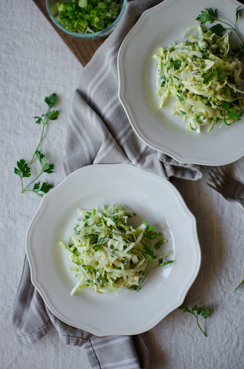 Green Coleslaw | Sprig and Flours-8