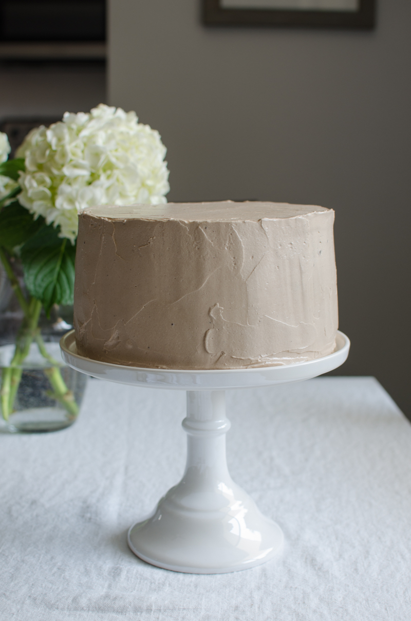Chocolate Swiss Meringue Buttercream | Sprig and Flours
